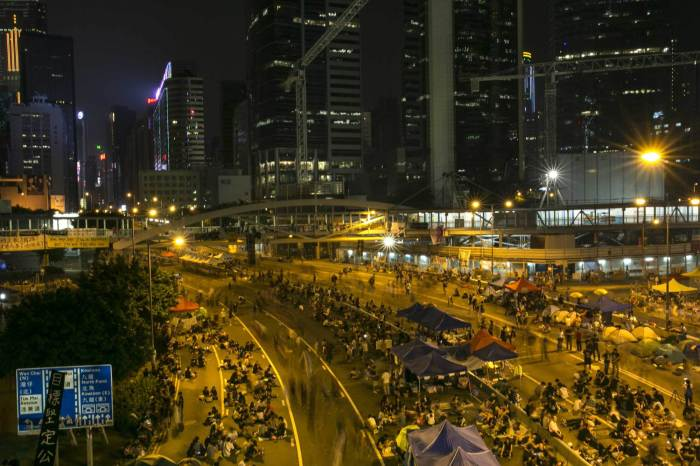 Tensions Remain High Between Rival Factions As Hong Kong Pro Democracy Rallies Continue