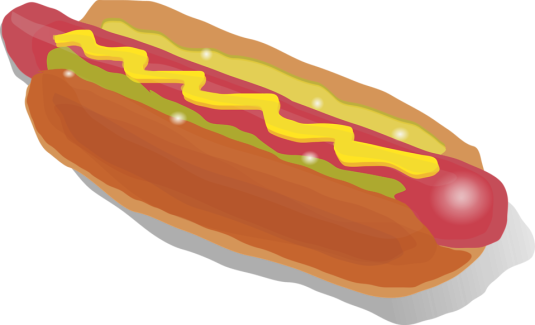 15037-illustration-of-a-hotdog-with-mustard-pv